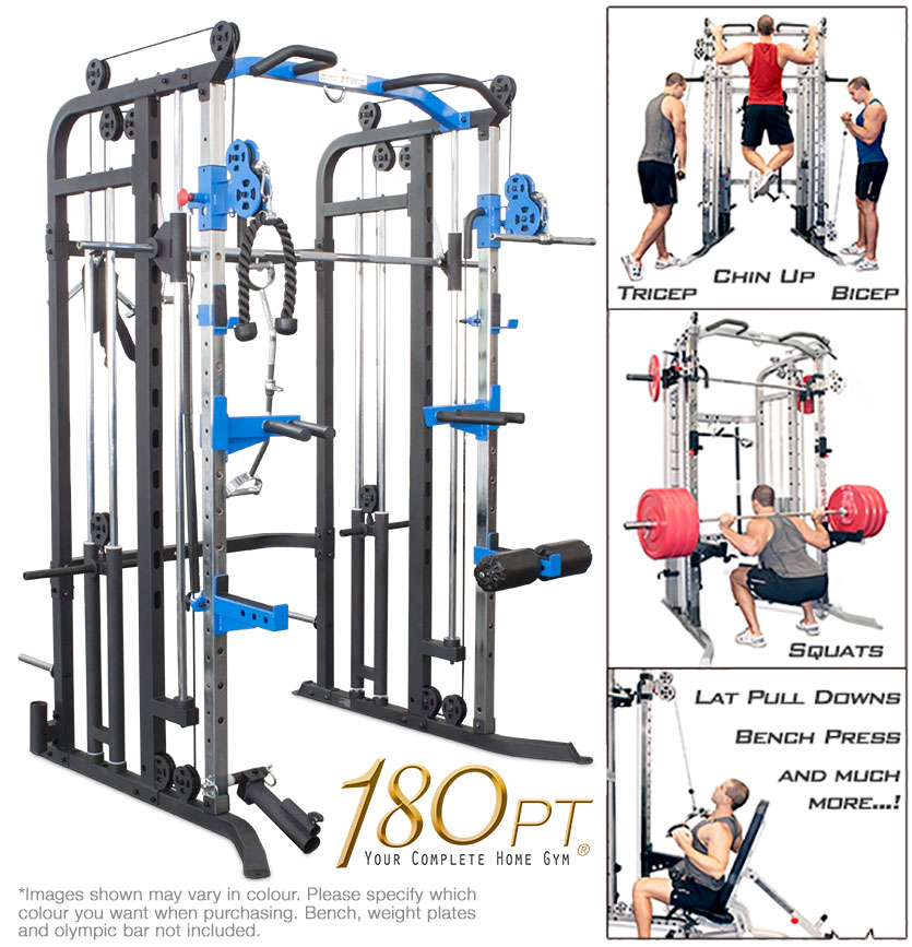 smith machine with pulley system