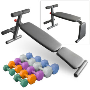 SPOB CSitUpBenchPLUSkgDumbbellSet