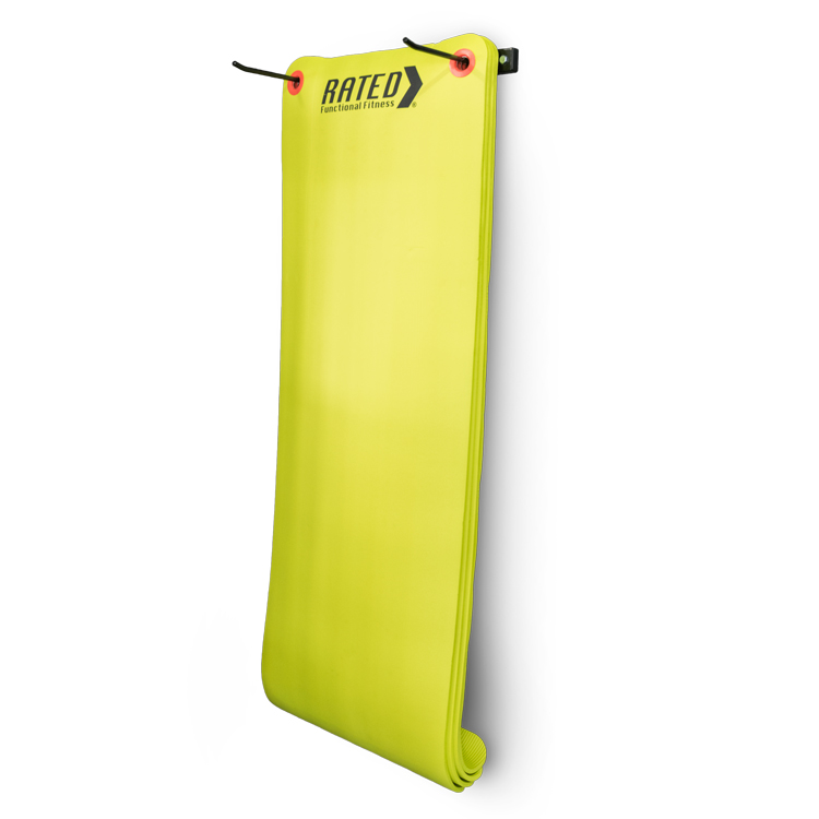 Wall bracket hanging exercise mat by Renouf Fitness