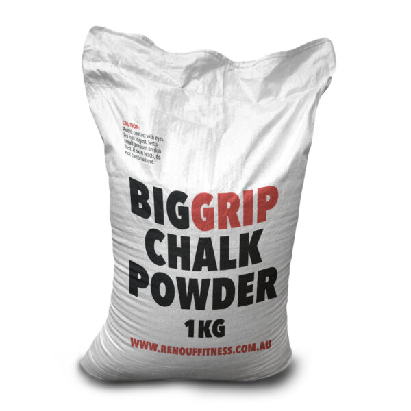 lifting chalk big grip powered chalk 1kg by Renouf Fitness