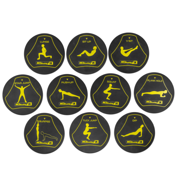 Exercise Station markers by Renouf Fitness