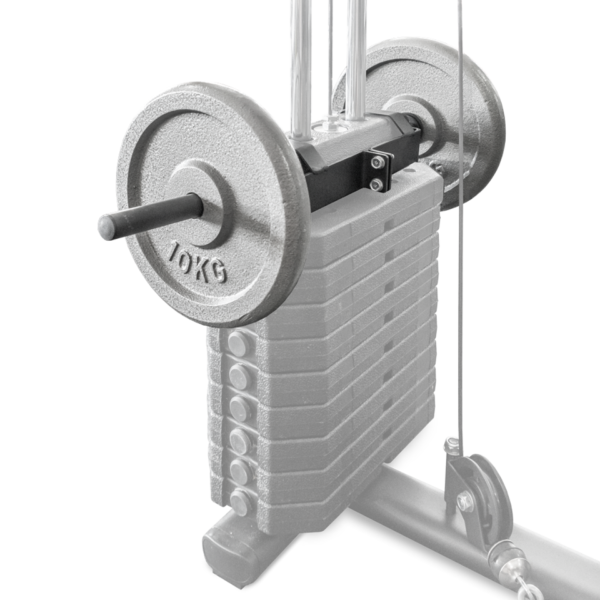 Home Gym weight plate bracket by Renouf Fitness